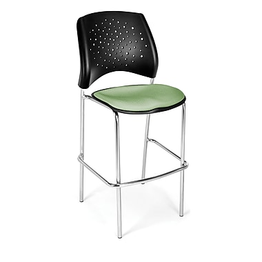 OFM Star Series Fabric Cafe Height Chair, Sage Green