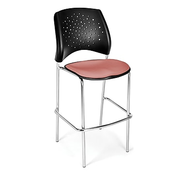 OFM Star Series Fabric Cafe Height Chair, Coral Pink