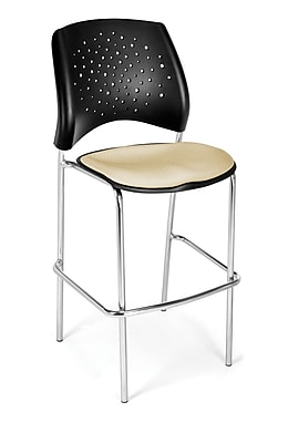 OFM Star Series Fabric Cafe Height Chair, Khaki