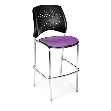 OFM Star Series Fabric Cafe Height Chair, Plum