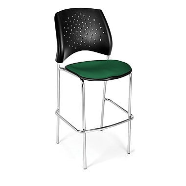 OFM Star Series Fabric Cafe Height Chair, Forest Green