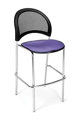 OFM Moon Series Fabric Cafe Height Chair, Lavender, 2/Pack