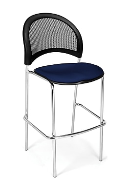 OFM Moon Series Fabric Cafe Height Chair, Navy