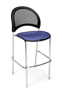OFM Moon Series Fabric Cafe Height Chair, Colonial Blue