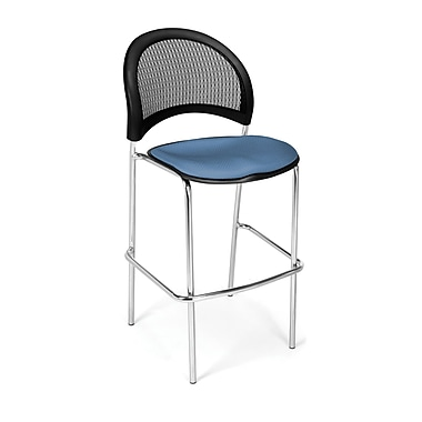 OFM Moon Series Fabric Cafe Height Chair, Cornflower Blue