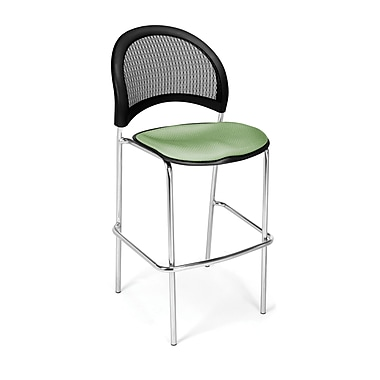 OFM Moon Series Fabric Cafe Height Chair, Sage Green