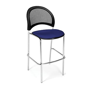 OFM Moon Series Fabric Cafe Height Chair, Royal Blue