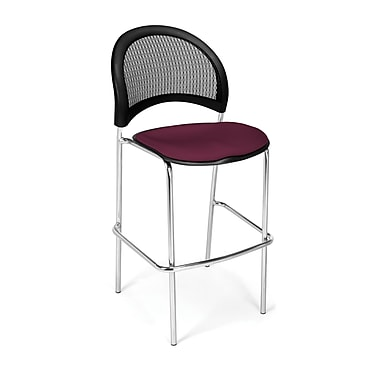 OFM Moon Series Fabric Cafe Height Chair, Burgundy