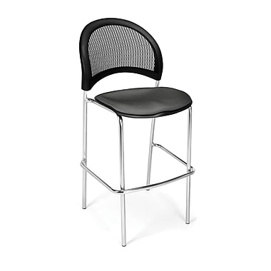 OFM Moon Series Fabric Cafe Height Chair, Slate Gray
