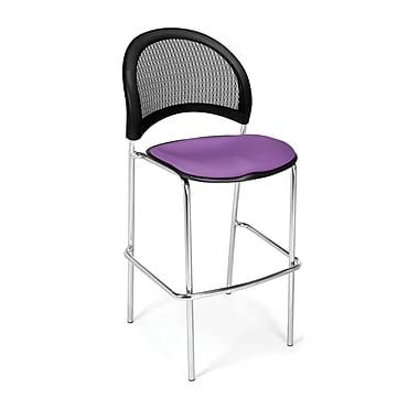 OFM Moon Series Fabric Cafe Height Chair, Plum