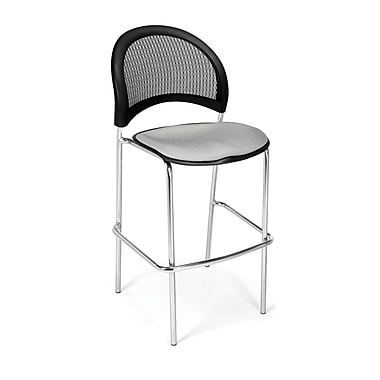 OFM Moon Series Fabric Cafe Height Chair, Putty