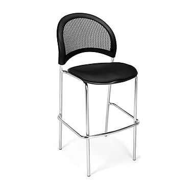 OFM Moon Series Fabric Cafe Height Chair, Black