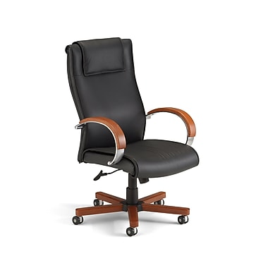 OFM 811588017034 Apex Leather High-Back Executive Chair with Fixed Arms