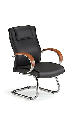 OFM Apex Series Wood Executive Guest Chair, Cherry