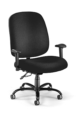 OFM Fabric Big And Tall Task Chair, Black (700-AA6-236)