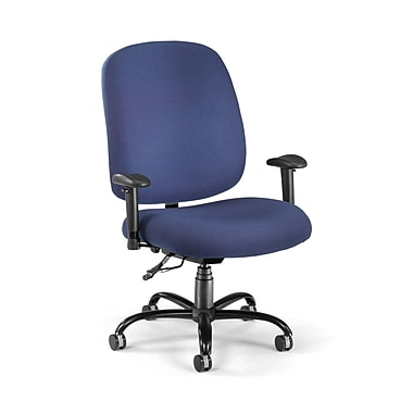 OFM Fabric Big And Tall Task Chair, Navy (811588015436)