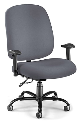 OFM Fabric Big And Tall Task Chair, Gray (700-AA6-239)