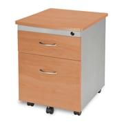 OFM 2 Drawer Mobile/Pedestal File, Maple,Letter/Legal, 17''W (811588016396)