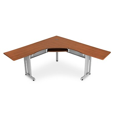 OFM 55177 Melamine L-shaped Workstation