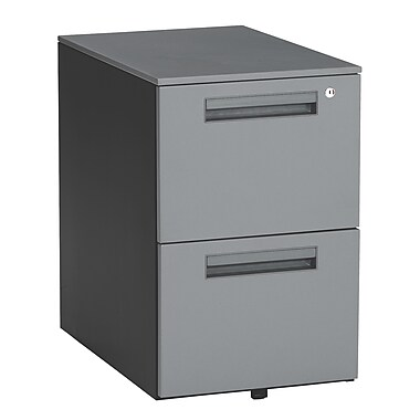 OFM 2 Drawer Mobile/Pedestal File, Charcoal,Letter/Legal, 15.5''W (811588011797)