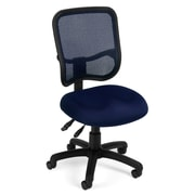 OFM 845123012192 Mesh Comfort Series Ergonomic Fabric Armless Task Chair, Navy