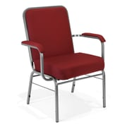 OFM Comfort Class Series Fabric Big And Tall Stack Chair, Wine