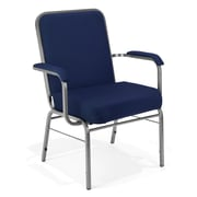 OFM Comfort Class Series Fabric Big And Tall Stack Chair, Navy