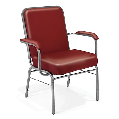 OFM Comfort Class Series Vinyl Big And Tall Stack Chair, Wine