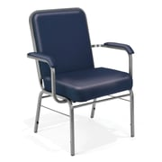 OFM Comfort Class Series Vinyl Big And Tall Stack Chair, Navy