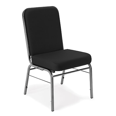 OFM Comfort Class Series Fabric Stack Chair, Black