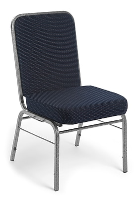 OFM Comfort Class Series Fabric Stack Chair, Navy Pinpoint