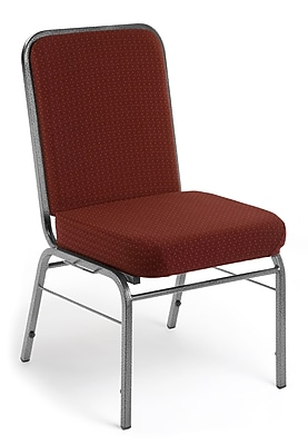 OFM Comfort Class Series Fabric Stack Chair, Wine Pinpoint