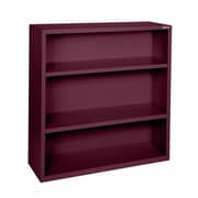 "Sandusky® Elite 42""H x 36""W x 18""D Steel Fully Adjustable Bookcase, Burgundy"