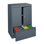 """Sandusky® System Series HFDF301842-02 42""""H x 30""""W x 18""""D Steel Counter Height Storage, Charcoal"""