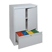 "Sandusky® System Series HFDF301842-02 42""H x 30""W x 18""D Steel Counter Height Storage, Dove Gray"