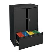 "Sandusky® System Series HFDF301842-02 42""H x 30""W x 18""D Steel Counter Height Storage, Black"