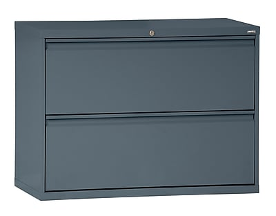 Sandusky 800 Series 2 Drawer Lateral File, Charcoal,Letter/Legal, 36''W (LF8F362-02)