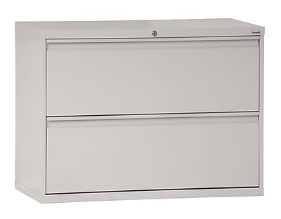 Sandusky 800 Series 2 Drawer Lateral File, Gray,Letter/Legal, 36''W (LF8F362-05)