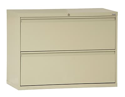 Sandusky 800 Series 2 Drawer Lateral File, Putty/Beige,Letter/Legal, 42''W (LF8F422-07)