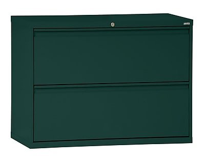 Sandusky 800 Series 2 Drawer Lateral File, Green,Letter/Legal, 36''W (LF8F362-08)