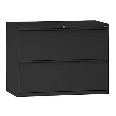 Sandusky 800 Series 2 Drawer Lateral File, Black,Letter/Legal, 30''W (LF8F302-09)