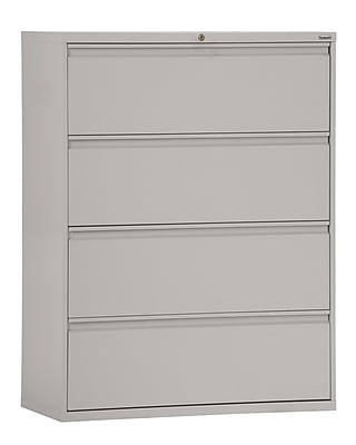 Sandusky 800 Series 4 Drawer Lateral File, Gray,Letter/Legal, 42''W (LF8F424-05)
