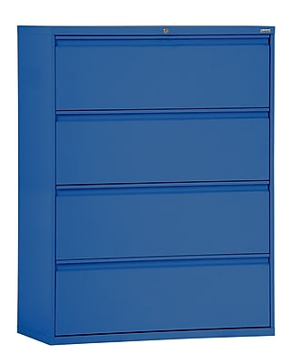 Sandusky 800 Series 4 Drawer Lateral File, Blue,Letter/Legal, 42''W (LF8F424-06)