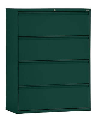 Sandusky 800 Series 4 Drawer Lateral File, Green,Letter/Legal, 30''W (LF8F304-08)