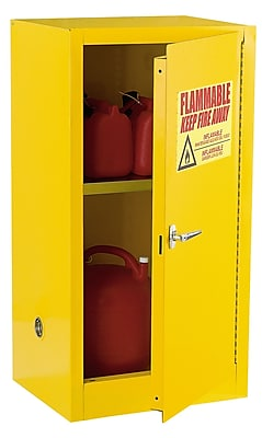 Compact Flammable Safety Cabinet Single Door-Manual Close 12 Gallon Capacity 23Wx18Dx35H