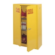 "Sandusky® 65""H x 43""W x 18""D Steel Flammable Safety Cabinet, Yellow"