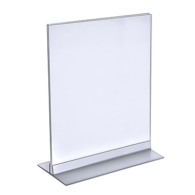 Azar Displays T-Strip Sign Holder, Clear Acylic, 12