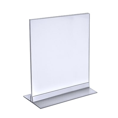 Azar Displays T-Strip Sign Holder, Clear Acylic, 8.5