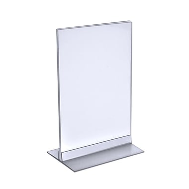 Azar Displays Horizontal/Vertical T-Strip Acrylic Sign Holder