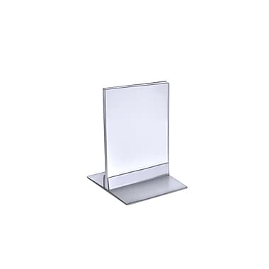 Azar Displays T-Strip Sign Holder, Clear Acylic, 5